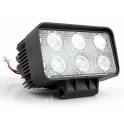 Фара диодная рабочего света 18 Вт (6 диодов) прямоугольная LED