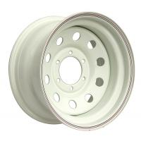 Диск Тойота / Ниссан / Митсубиси стальной белый 6x139,7 8xR15 d110 ET-3