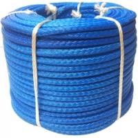 Синтетический трос D - 9 мм ( синий, нагрузка - 8100 кгс.)